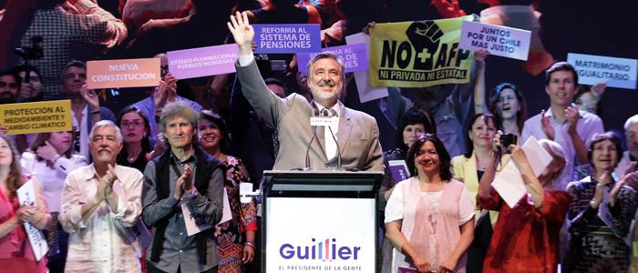 El lanzamiento de Guillier