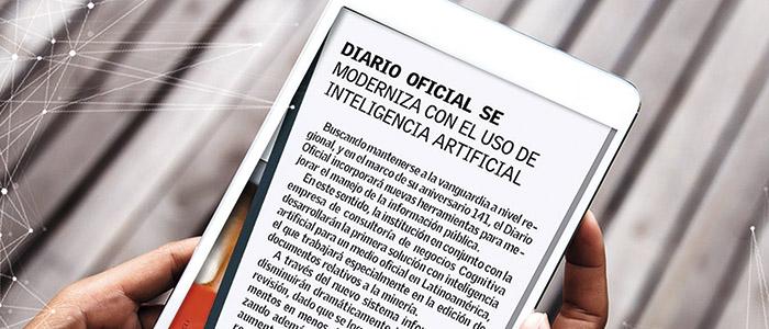 Diario Oficial usa inteligencia artificial